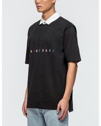 10.deep - Black Nbd Embroidered Rugby Shirt for Men - Lyst