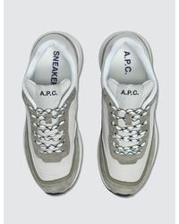 A.P.C. - White Femme Running Sneakers - Lyst