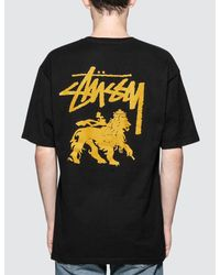 Stussy - Black Stock Lion T-shirt for Men - Lyst