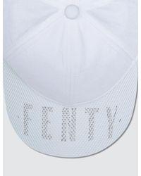 PUMA - White Perforated Cap - Lyst