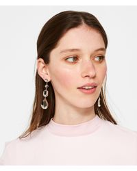 Henri Bendel - Purple Fantasy Metallic Linear Earring - Lyst