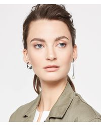 Henri Bendel - Metallic Mismatched Pearl Earring - Lyst