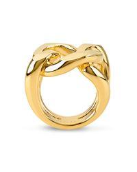 Henri Bendel - Metallic Bendel Metal Link Ring - Lyst