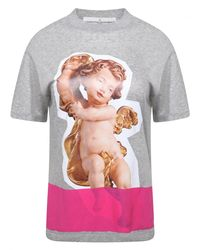 Golden Goose Deluxe Brand Gray Graphic Cherub Print T-shirt Grey for men