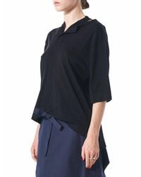 Phoebe English - Blue Deconstructed Polo Top - Lyst