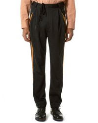 BED j.w. FORD | Black Embroidered Stripe Trouser for Men | Lyst
