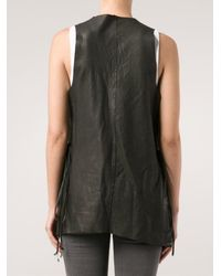 Incarnation - Multicolor Raw-edged Leather Vest - Lyst
