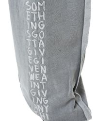 Liam Hodges Gray Embroidery 'aponysus' Track Pants for men
