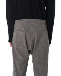 Jan Jan Van Essche - Gray Single-piece Melange Trousers for Men - Lyst