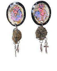 Claire Barrow - Multicolor Ornate Earrings - Lyst