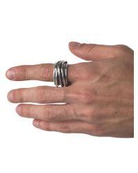 Emanuele Bicocchi - Multicolor Twisted Irregular Ring for Men - Lyst