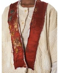 By Walid - Natural 'celia' Patchwork Shirt - Lyst
