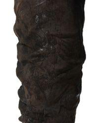 Boris Bidjan Saberi - Black Waxed Denim Trousers for Men - Lyst