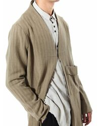Aleksandr Manamïs - Natural Raw Hem Single Clasp Coat for Men - Lyst