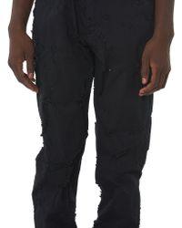 Ann Demeulemeester - Black Destroyed Trouser for Men - Lyst