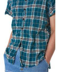 Greg Lauren - Blue Laguna Plaid Studio Shirt - Lyst