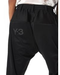 Y-3 - Black Panelled Joggers for Men - Lyst