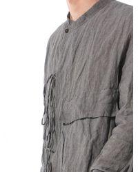 Ziggy Chen - Gray Laced Crepe-knit Shirt - Lyst