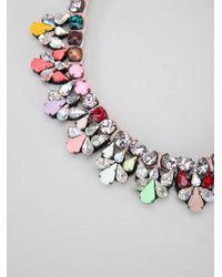 Shourouk - Metallic Multicolored Rhinestone Necklace - Lyst