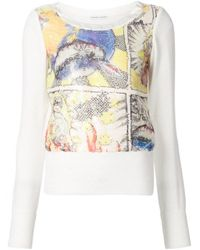 Tsumori Chisato | Multicolor Silk Comic-sequined Top | Lyst