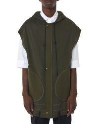 Di Liborio - Green Hooded Vest for Men - Lyst
