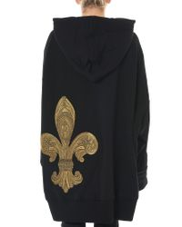 Vera Wang - Black Oversized Hooded Sweater - Lyst