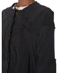 By Walid - Black 'tari' Assemblage Silk Coat - Lyst