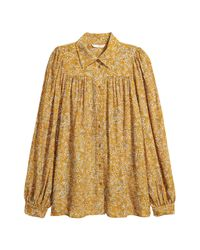 H&M Yellow Patterned Blouse