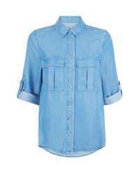 Hobbs | Blue Skye Chambray Shirt | Lyst