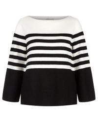 Hobbs | Black Harbour Stripe Sweater | Lyst