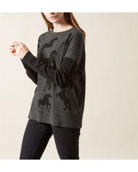 Hobbs | Black Equestrian Sweater | Lyst