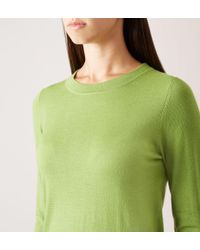 Hobbs - Green Penny Knitted Sweater - Lyst