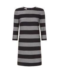 Hobbs - Black Gracie Stripe Tunic Dress - Lyst