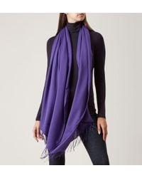 Hobbs - Purple Scarf - Lyst