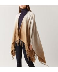 Hobbs - Natural Catherine Ombre Wrap - Lyst
