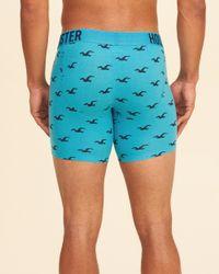 Hollister - Blue Longer-length Trunk for Men - Lyst
