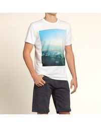 Hollister - White Photoreal Graphic Tee for Men - Lyst