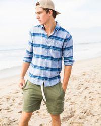 Hollister - Blue Linen Shirt In Slim Fit In Navy Plaid for Men - Lyst