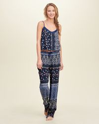 Hollister | Blue Gilly Hicks Patterned Sleep Cami | Lyst