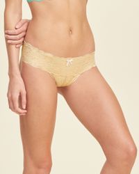 Hollister - Natural Gilly Hicks Lace Thong - Lyst