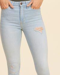 Hollister Blue High-rise Super Skinny Jeans