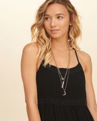Hollister - Metallic Celestial Charm Layered Necklace - Lyst
