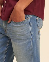 Hollister - Blue Skinny Jeans for Men - Lyst