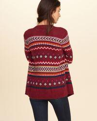 Hollister - Multicolor Patterned Blanket Cardigan - Lyst