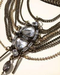 Hollister - Metallic Layered Statement Necklace - Lyst