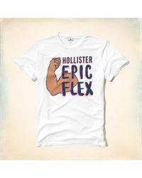 Hollister - White Epic Flex Graphic Tee for Men - Lyst