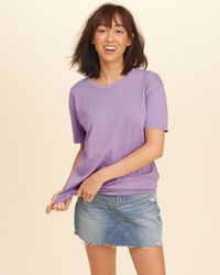 Hollister - Purple Must-have Oversized T-shirt - Lyst