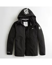 Hollister - Black Guys All-weather Mesh-lined Jacket From Hollister for Men - Lyst