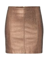Free People | Multicolor New Modern Faux Leather Metalic Mini Skirt | Lyst