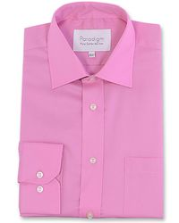 Double Two - Pink Paradigm King Size Single Cuff Pure Cotton Shirt for Men - Lyst